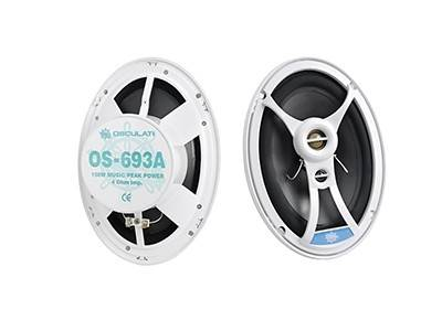 Casse stereo bianche 300W ov.